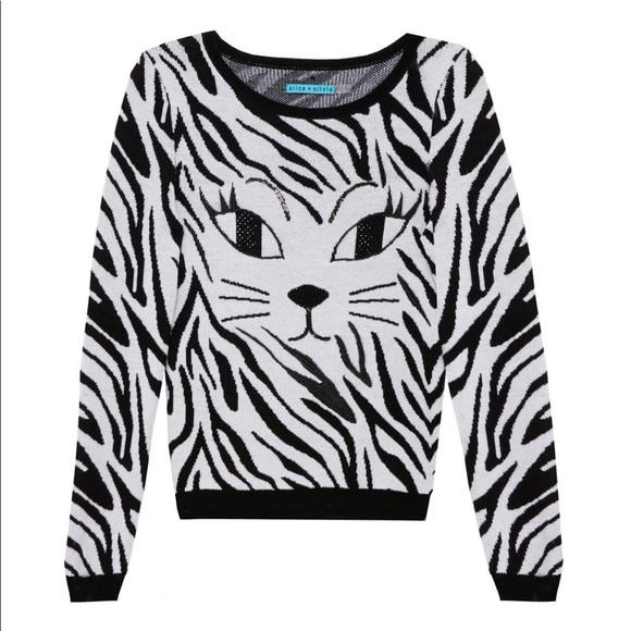 6cd5e42ceab Alice + Olivia Sweaters - Alice+Olivia Reyn Sequin Cat Eye Sweater